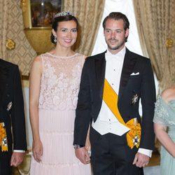 Félix de Luxemburgo y Claire Lademacher en la celebración de la Fiesta Nacional de Luxemburgo 2016
