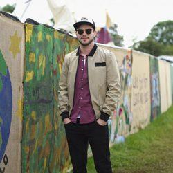 Nicholas Hoult en el festival de Glastonbury 2016