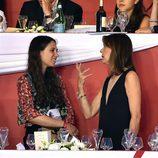 Carolina de Mónaco habla con Tatiana Santo Domingo en el concurso de saltos de Monte-Carlo 2016
