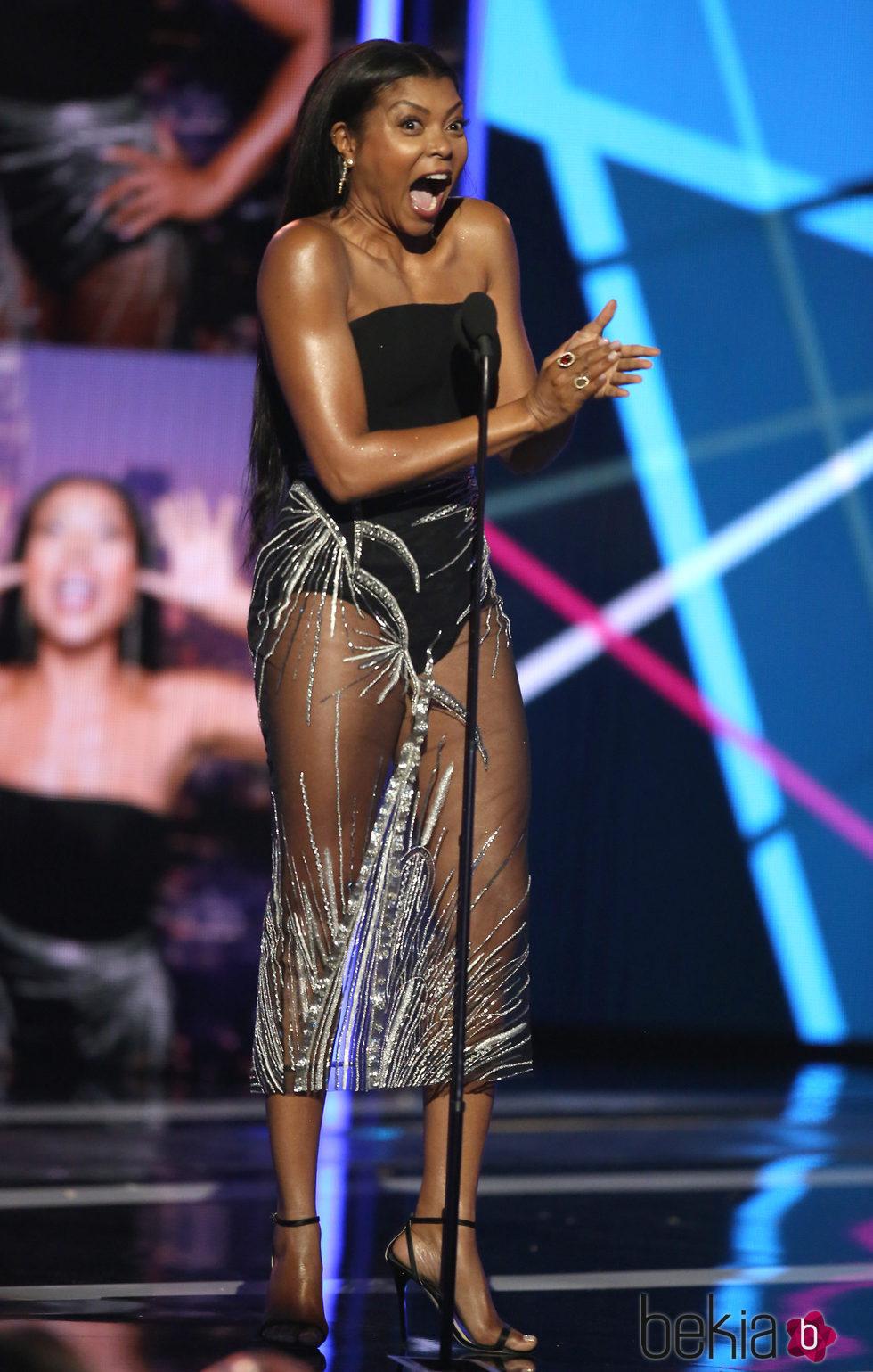 Taraji P. Henson durante la entrega de los BET Awards 2016