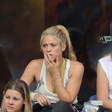 Shakira, angustiada en el partido Italia-España en la Eurocopa 2016