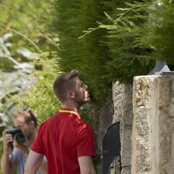 David De Gea llegando a casa de Edurne tras la eliminación de La Roja en la Eurocopa 2016