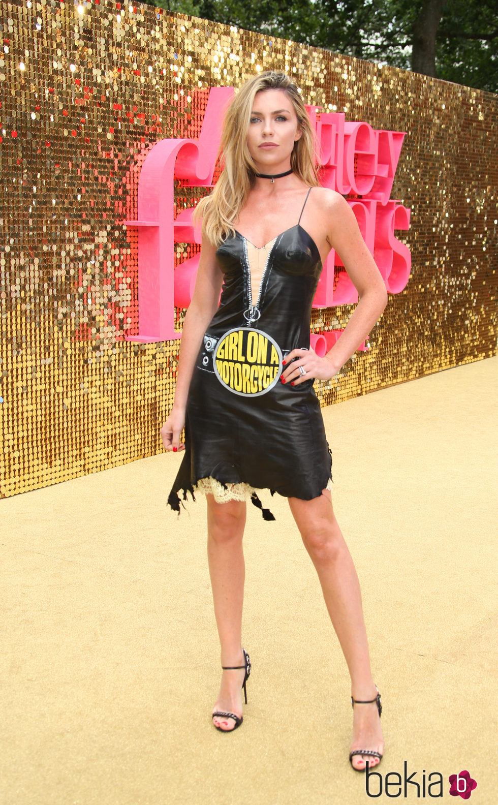 La modelo Abbey Clancy en la Premiere de 'Absolutely Fabulous'