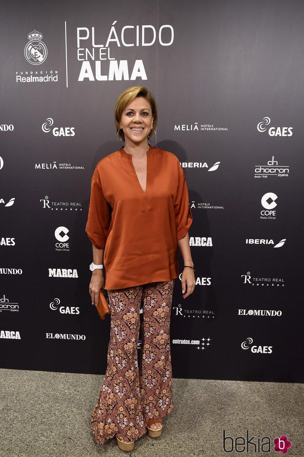 María Dolores de Cospedal en el concierto benéfico 'Plácido en el alma'