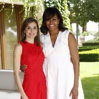 La Reina Letizia y Michelle Obama en La Zarzuela