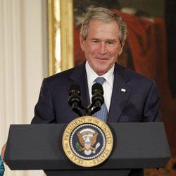 George W. Bush durante la ceremonia de presentación