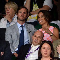 Pippa Middleton y su novio James Matthews en Wimbledon 2016