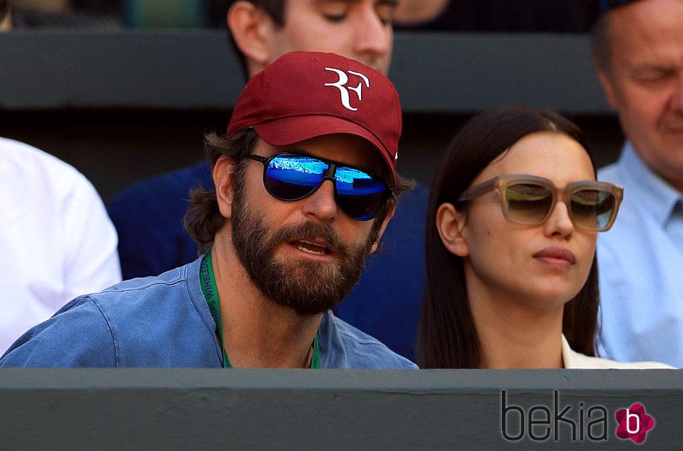 Irina Shayk y Bradley Cooper en Wimbledon 2016