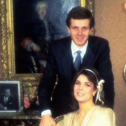 Carolina de Mónaco y Stefano Casiraghi en su boda
