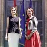La Reina Letizia y Ségoléne Royal la apertura de la Segunda Conferencia Global sobre Salud y Cambio Climático