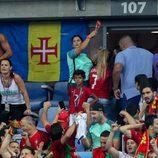 La familia de Cristiano Ronaldo en la final de la Eurocopa 2016