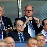 El Príncipe Alberto de Mónaco en la final de la Eurocopa 2016