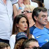 Erika Choperena, novia de Antoine Griezmann, en la final de la Eurocopa 2016