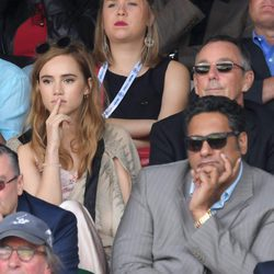 Suki Waterhouse en la final de Wimbledon 2016