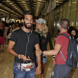 Suso a su llegada a Madrid para la final de 'Supervivientes 2016'