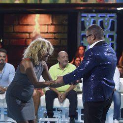 Mila Ximénez emocionada tras su reencuentro con Jorge Javier Vázquez