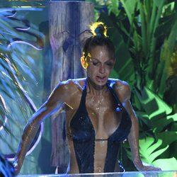 Yola Berrocal en la prueba de resistencia bajo el agua en 'Supervivientes'