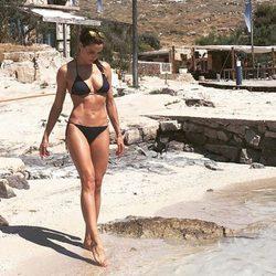 Pilar Rubio luciendo bikini en las playas de Croacia