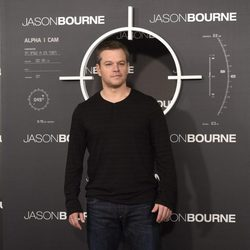 Matt Damon en el photocall de 'Jason Bourne' en Madrid