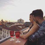 Sofía Suescun y Hugo Paz, muy acaramelados en una terraza