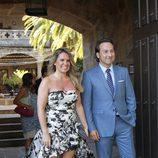 Iker Jiménez y Carmen Portet en la boda de Álvaro Rojo y Ana Villarubia