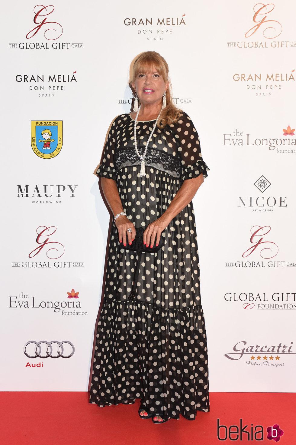 Bárbara Rey en la Global Gift Gala 2016 celebrada en Marbella