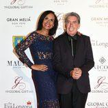 Manolo Santana y Claudia Rodríguez en la Global Gift Gala 2016 celebrada en Marbella