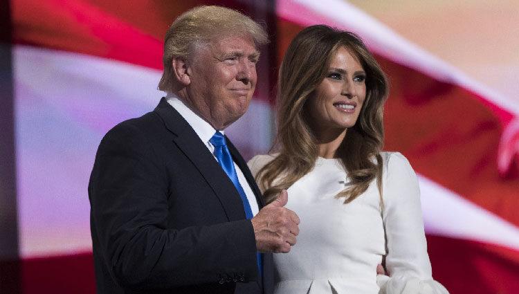 Donald y Melania Trump durante una convención