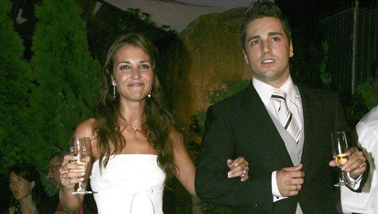 Paula Echevarría y David Bustamante en el brindis de su boda