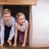Emmanuel y Leonor de Bélgica en el Museo del Cómic de Bruselas