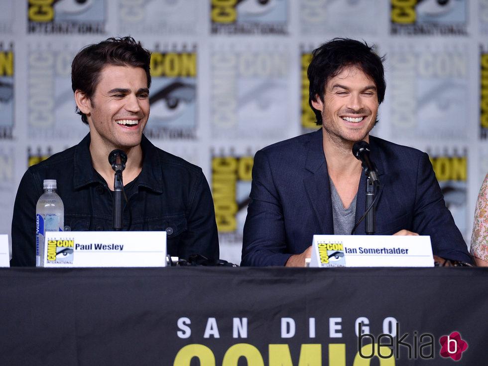 Ian Somerhalder y Paul Wesley en la Comic-Con de San Diego 2016