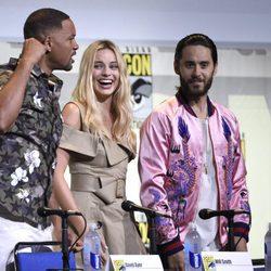 Will Smith, Margot Robbie y Jared Leto en la Comic-Con de San Diego 2016