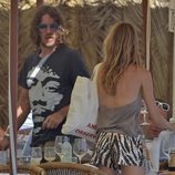 Carles Puyol y Vanesa Lorenzo durante sus vacaciones en Ibiza