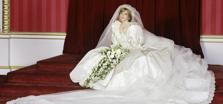 Lady Di vestida de novia el día de su boda