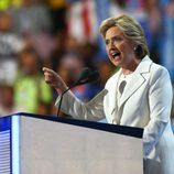 Hillary Clinton en su Convención Demócrata