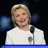 La candidata a la presidencia Hillary Clinton en una Convención Demócrata