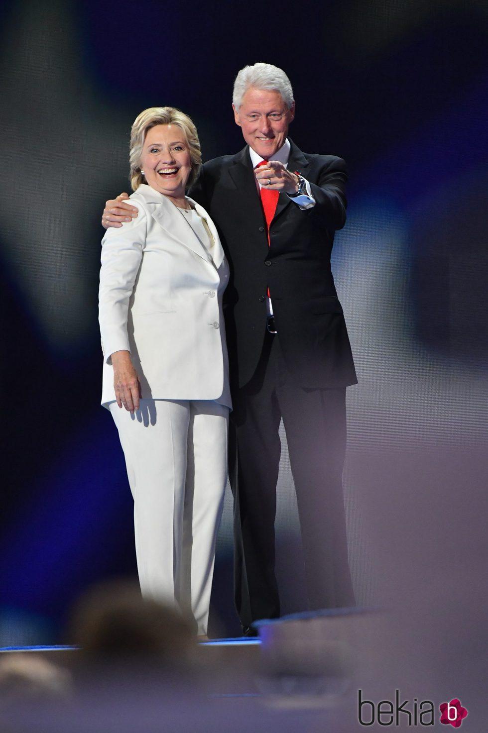 Hillary y Bill Clinton en su Convención Demócrata