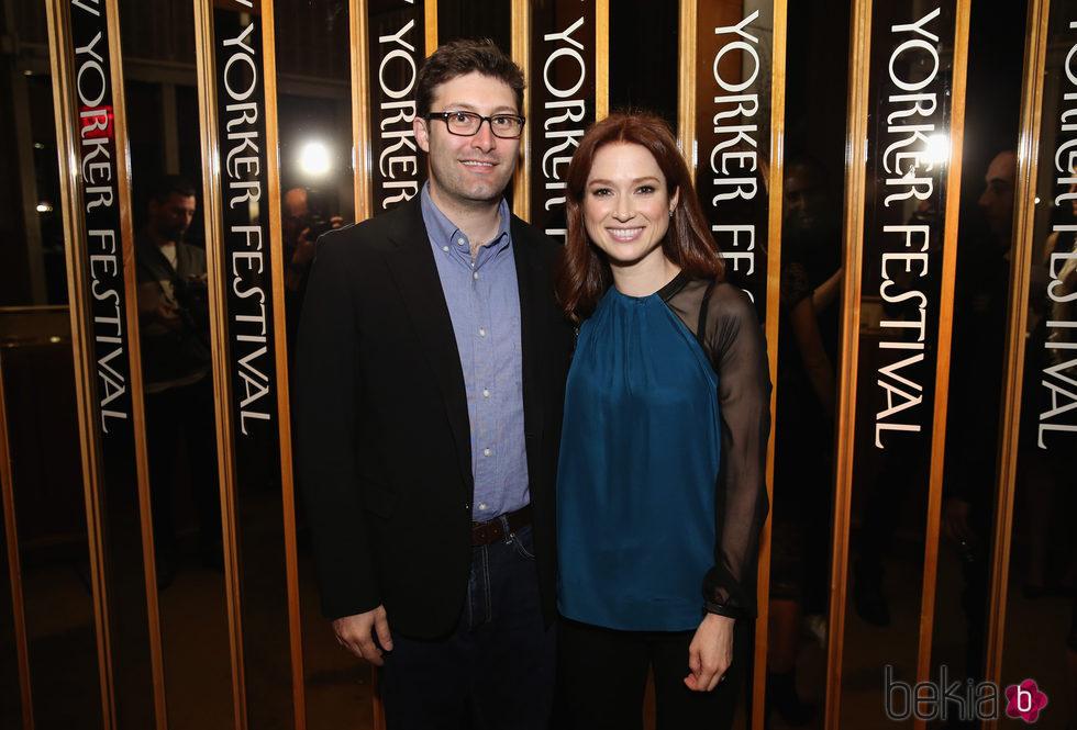 Ellie Kemper y su marido Michael Koman