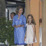 La Reina Sofía con su nieta la Princesa Leonor de cena por Mallorca