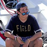 Froilán en un curso de vela en Mallorca