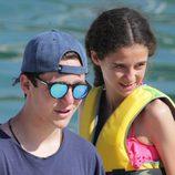 Froilán y Victoria Federica en un curso de vela