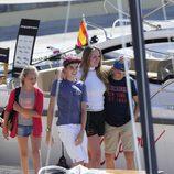 Irene, Pablo y Miguel Urdangarín en un curso de vela en Mallorca