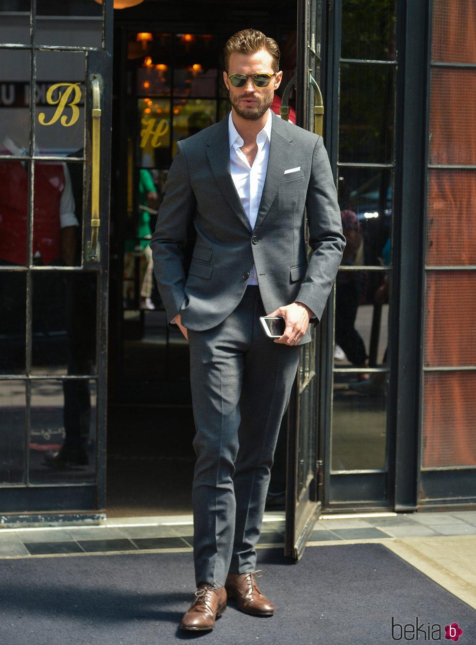 Jamie Dornan presumiendo de elegancia en Nueva York