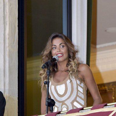 Lara Álvarez dando el pregón