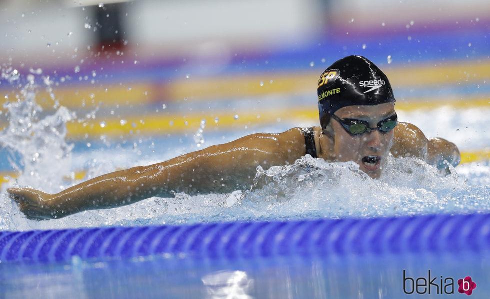 Mireia Belmonte Garcia en la competición de los 400 estilos en los Juegos Olímpicos de Río 2016