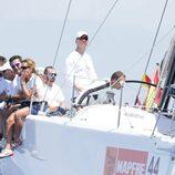 El Rey Felipe VI a bordo del velero Aifos en Mallorca