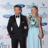Luján Argüelles junto a su pareja Carlos en la Gala Starlite 2016