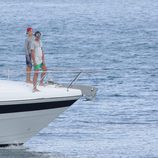 Miguel Urdangarín y Froilán navegando durante sus vacaciones en Palma de Mallorca