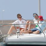 Juan y Miguel Urdangarín con Froilán navegando en aguas de Palma de Mallorca