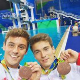 Tom Daley y su compañero Daniel Goodfellow